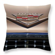 1958 Cadillac Eldorado Barritz Emblem Throw Pillow by Jill Reger