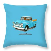 Apache Pick Up Truck Throw Pillow