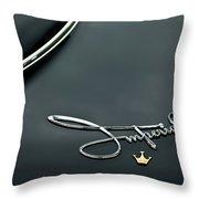1958 Chrysler Imperial Emblem Throw Pillow