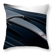 1958 Corvette 'big Block' Hood Throw Pillow
