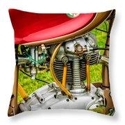 1958 Ducati 175 F3 Race Motorcycle -2119c Throw Pillow