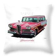 1958 Edsel Bermuda Throw Pillow