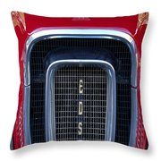 1958 Edsel Hood Ornament  Throw Pillow