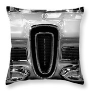 1958 Edsel Pacer Black And White Throw Pillow