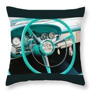 1958 Edsel Pacer Dash Throw Pillow