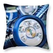 1958 Edsel Ranger Push Button Transmission Throw Pillow