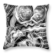 1958 Impala Beauty Within The Beast Throw Pillow