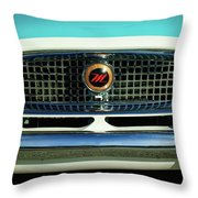 1958 Nash Metropolitan Hood Ornament 2 Throw Pillow