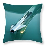 1958 Oldsmobile 98 Hood Ornament Throw Pillow