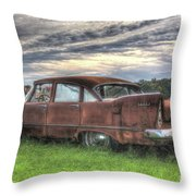 1958 Plymouth Savoy Throw Pillow