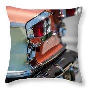 1958 Pontiac Bonneville Taillights Throw Pillow