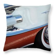 1958 Pontiac Bonneville Wheel Throw Pillow
