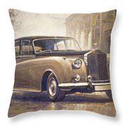 1959-62 Rolls-royce Silver Cloud II Throw Pillow