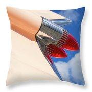 1959 Cadillac Coupe De Ville 08 Throw Pillow