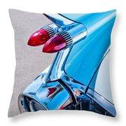 1959 Cadillac Eldorado 62 Series Taillight Throw Pillow