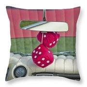 1959 Cadillac Eldorado Fuzzy Dice Throw Pillow