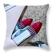 1959 Cadillac Eldorado Tail Fin Throw Pillow