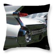 1959 Cadillac Tail Throw Pillow
