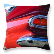 1959 Chevrolet Biscayne Taillight Throw Pillow