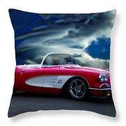 1959 Chevrolet Corvette Convertible II Throw Pillow