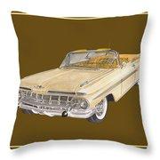 1959 Chevrolet Impala Convertible Throw Pillow
