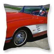 1959 Corvette Throw Pillow