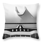 1959 Dodge Coronet Emblem - Hood Ornament -0903bw Throw Pillow
