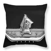 1959 Dodge Custom Royal Super D 500 Emblem -0230bw Throw Pillow