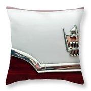 1959 Dodge Custom Royal Super D 500 Emblem Throw Pillow