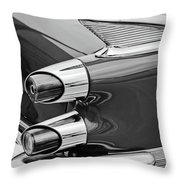 1959 Dodge Custom Royal Super D 500 Taillight -0233bw Throw Pillow