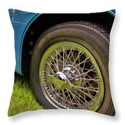 1959 Jaguar X K 150s Wire Wheel Throw Pillow