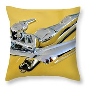 1959 Nash Metropolitan Coupe Hood Ornament Throw Pillow