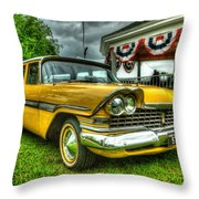 1959 Plymouth Suburban Sport 001 Throw Pillow