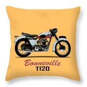1959 T120 Bonneville Throw Pillow
