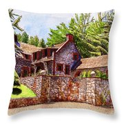 #196 Bourn Cottage Throw Pillow