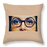 1960 70 Stylish Female Glasses Advertisement 4 Throw Pillow