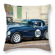 1960 Austin Healey 3000 Throw Pillow