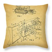 1960 Bulldozer Patent Throw Pillow