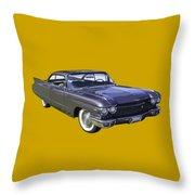 1960 Cadillac - Classic Luxury Car Throw Pillow
