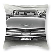 1960 Cadillac - Vignette Bw Throw Pillow