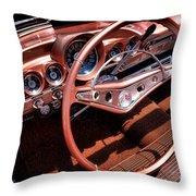 1960 Chevrolet Impala Convertible Throw Pillow