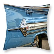 1960 Chevy Impala Throw Pillow