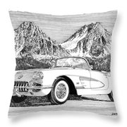 1960 Corvette Throw Pillow