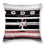 1960 Dodge Truck Grille Emblem -0275ac Throw Pillow
