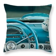 1960 Ford Thunderbird Dash Throw Pillow
