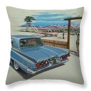 1960 Ford Thunderbird  Throw Pillow