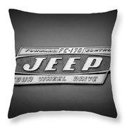 1960 Forward Control Jeep Fc-170 Emblem -1669bw Throw Pillow