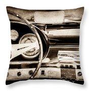 1960 Maserati 3500 Gt Spyder Steering Wheel Emblem -0407s Throw Pillow