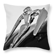 1960 Nash Metropolitan -0854bw Throw Pillow