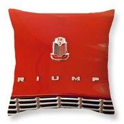 1960 Triumph Tr3 Emblem Throw Pillow
